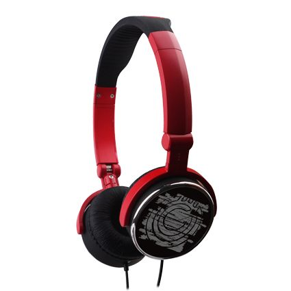 G-Cube G-POP II Headphones iHP-120P Red