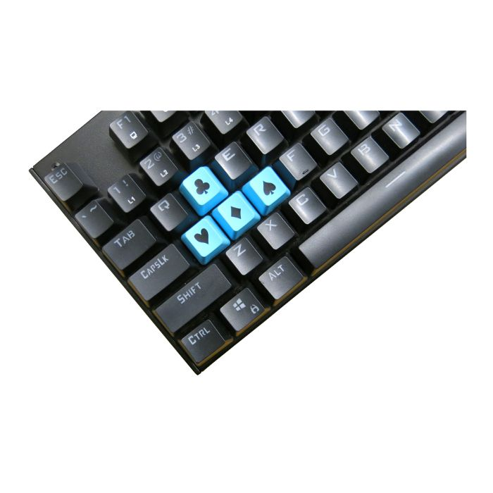 Tai-Hao ABS Double Shot Poker 4 Key Set Blue/Black Novelty Keycaps